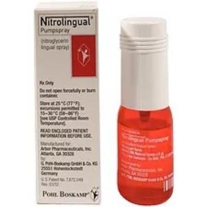 Nitroglycerine 0.4 mg spray